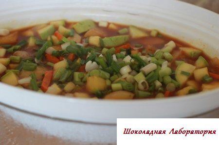 Овощное рагу в пароварке