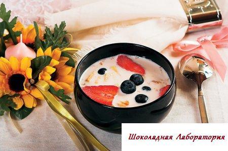 Рецепт - Суп с плодами и корицей