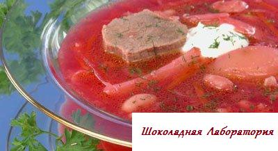 Рецепт - Борщ гетманский
