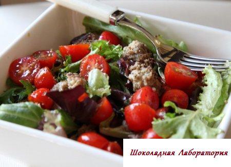 Салат с фрикадельками