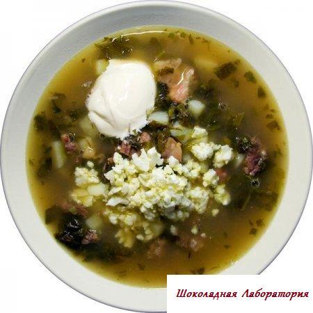 Рецепт - Борщ зеленоватый