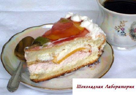 Тортик бисквитный с вареньем
