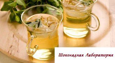 Рецепт - Мятный чай со льдом