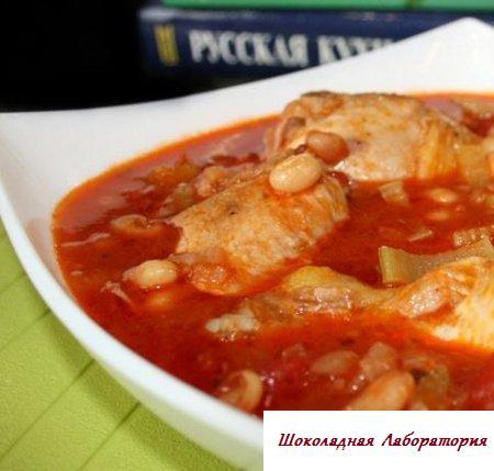 Рецепт - Цыпленок в томатном соусе