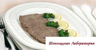 Рецепт - Телятина под соусом из тунца