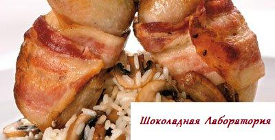 Рецепт - Жареные перепела с рисом и грибами