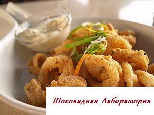 Рецепт - Тушеный кальмар
