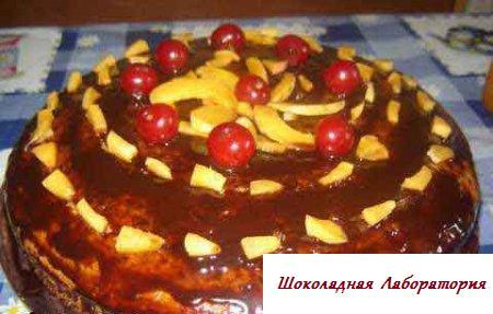 Рецепт кофейного пирога с вишнями