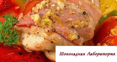 Рецепт - Куриные бедрышки в беконе