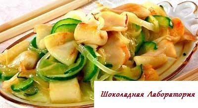 Рецепт - Кальмары по-пекински