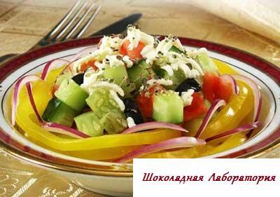 Рецепт - Греческий салат