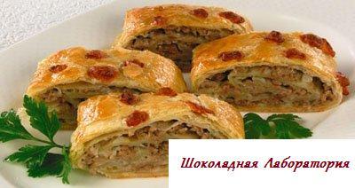 Рецепт - Штрудель по-гречески