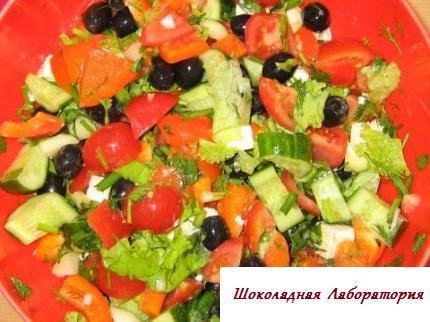 Рецепт - Салат по гречески