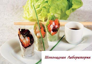 Рецепт - Нэмы из овощей, крабов и кальмаров