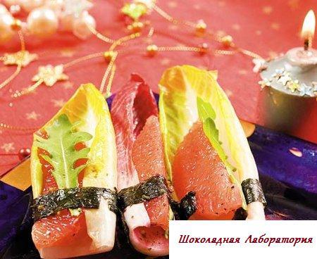 Рецепт - Закуска из розового грейпфрута