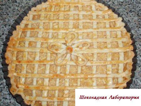 Рецепт - Песочный пирог с яблоками