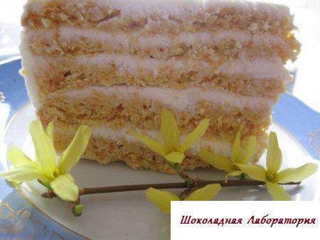 Рецепт - Тортик Янтарный