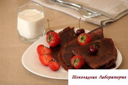Рецепт - Блины шоколадные