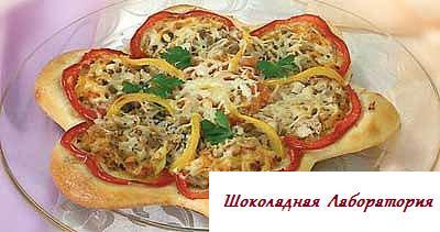 Рецепт - Пицца с курицей и майонезом