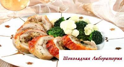 ruleti iz okorochkov s nachinkoy, не дорогие торжественные салаты, дешевые салаты рецепты, рецепт салата с окорочками, блюда из окорочков в духовке с фото, блюда из окорочков с фото