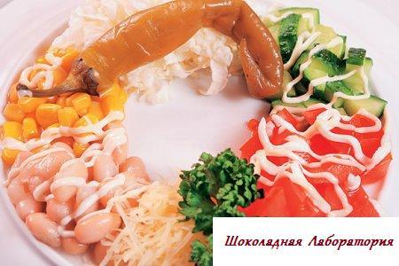 мексиканские огурци, обыкновенные салаты из бодрых грибов и пекинской капусты, рецепт мексиканский салат, рецепт мексиканской капусты, рецепт салата мексиканский, Салат Мексиканский
