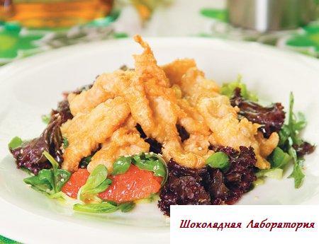 Рецепт - Салат из курицы в японском соусе с грейпфрутом