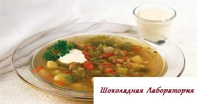 Рецепт - Суп овощной