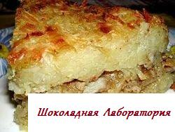 Приготовление картофельной бабки, бабка рецепт фото