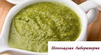 Рецепт - Соус зеленоватый из спаржи