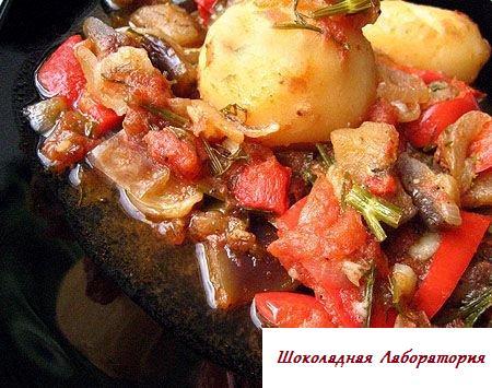 аджаб сандал, аджаб сандал рецепт, аджаб-сандал с мясом рецепт, аппетитные малокалорийные рецепты с фото, Запеченная картошка смясом и сыром в духовке фото рецепт