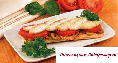 Рецепт - Хлебцы с рыбой и оливками