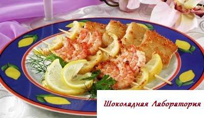 Рецепт - Креветки с лимоном