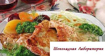 Рецепт - Свинина в тесте