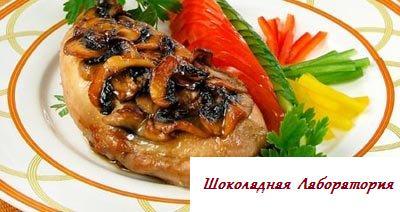 Рецепт - Куриные окорочка с грибами
