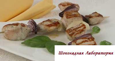 Рецепт - Шашлык из курицы с луком